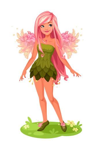 Pink Wings Fairy stehend vektor
