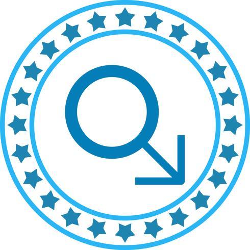 Vektor männliche Zeichen Symbol