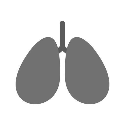 Vektor-Lungen-Symbol