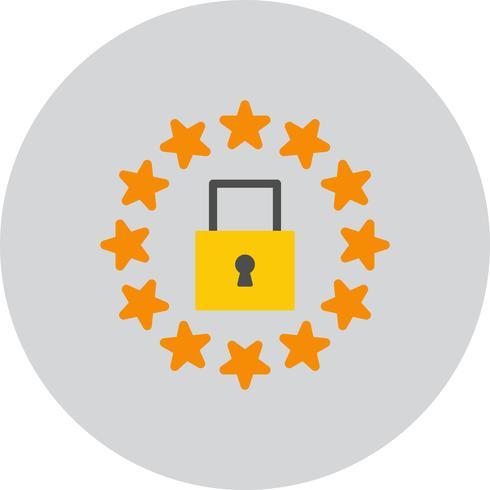 Vector GDPR ícone de bloqueio de segurança