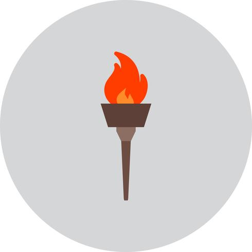 Vector olympic fire Icon