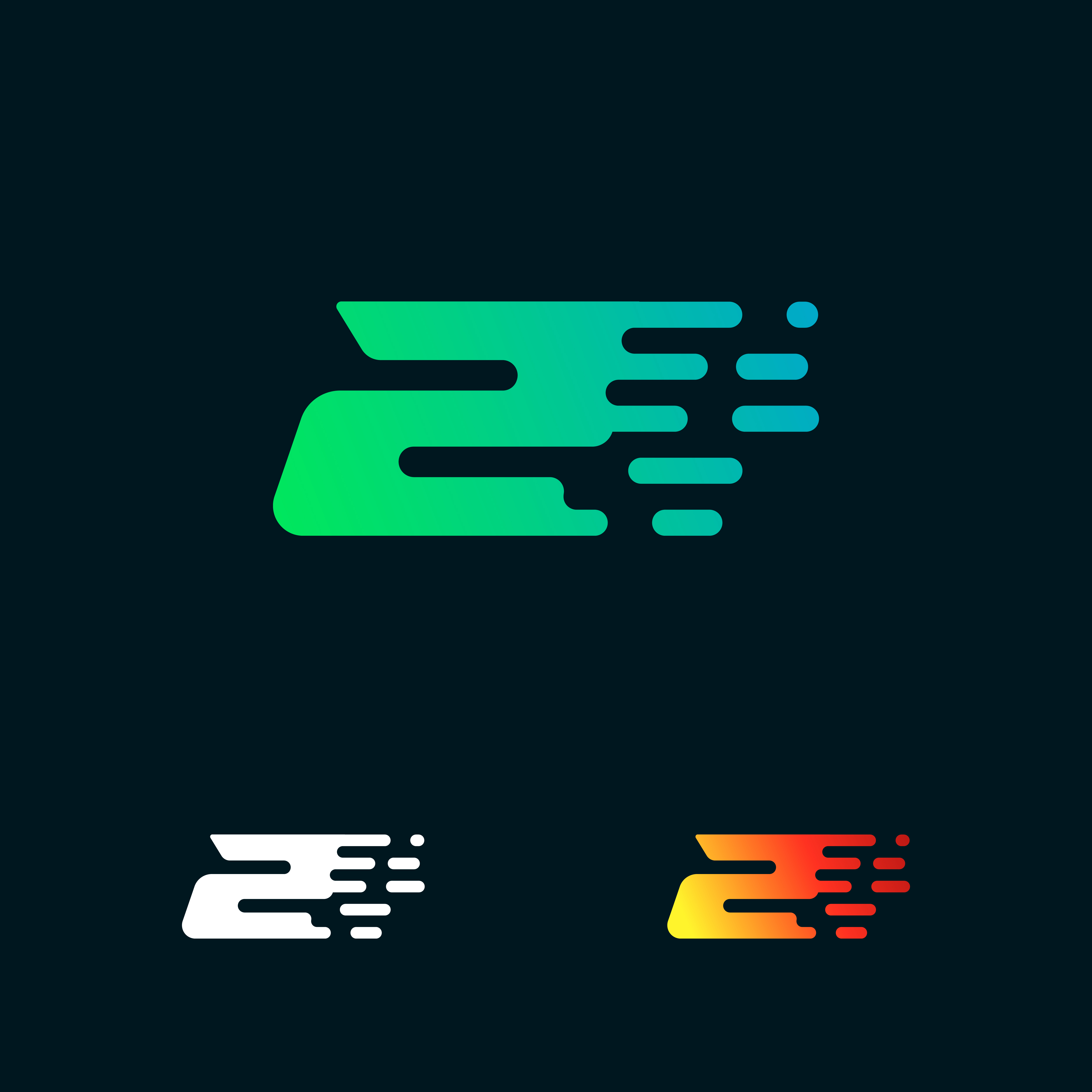 Number 2 Modern Speed Shapes Logo Design Vector 587670