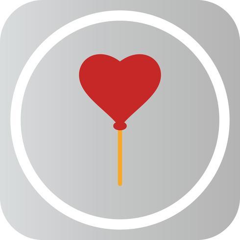 Vector icono de globo del corazón