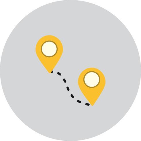 Ícone de rota do vetor