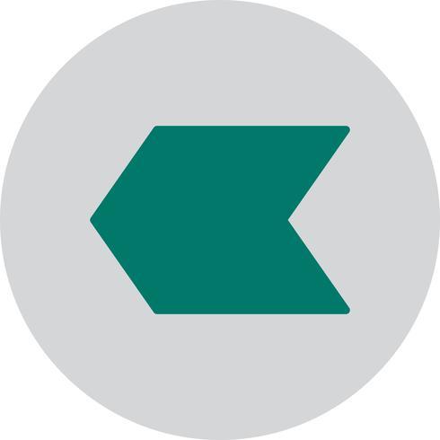 Vektor nach links Pfeilsymbol