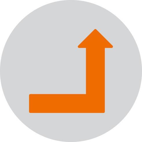 Icono de vector hacia arriba