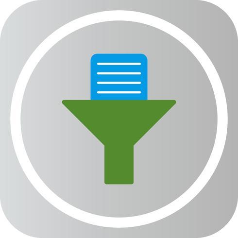 Icono de filtro de documentos vectoriales
