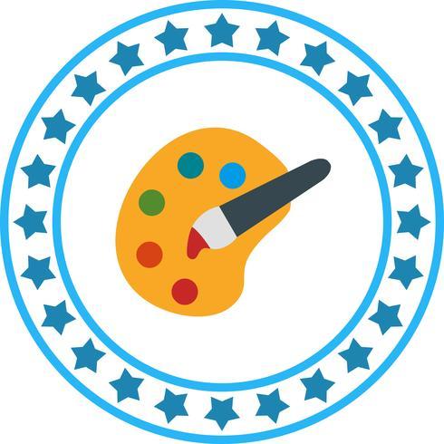Vector icono de paleta de colores