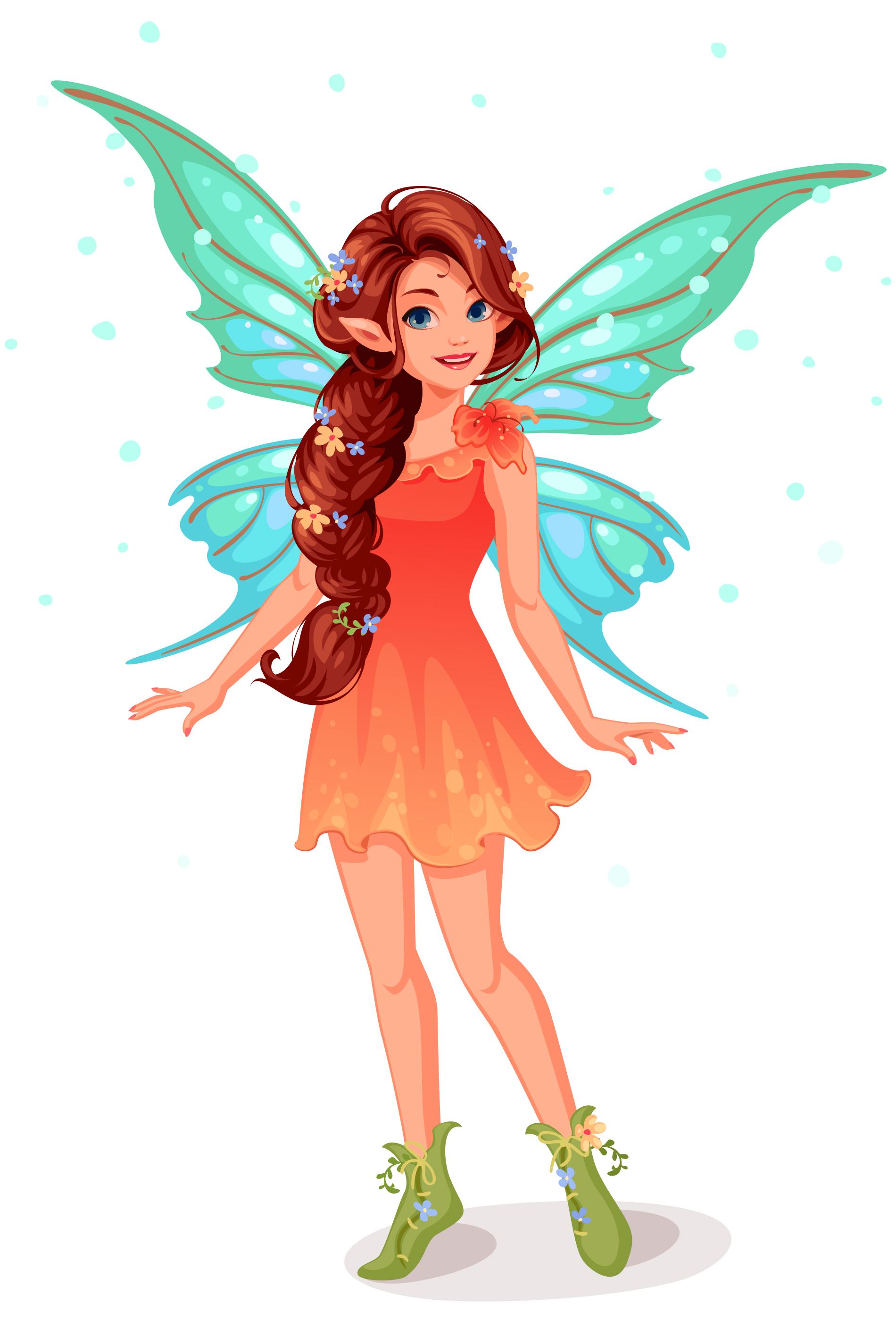 Cute little fairy standing - Download Free Vectors ...