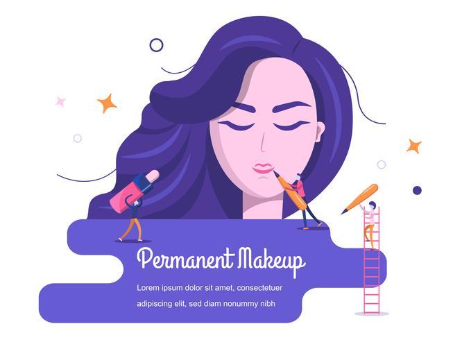 Vrouw die make-up aanzet