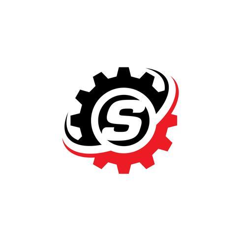 Modello di progettazione di logo Gear S lettera vettore