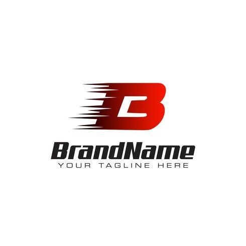 Letter Initial B Speed Logo Design Template vector