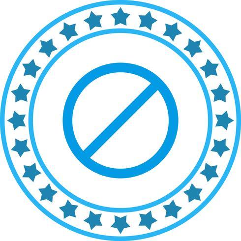 Vector proibido ícone