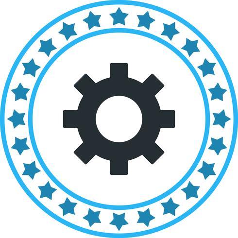 Icono de rueda dentada de vector