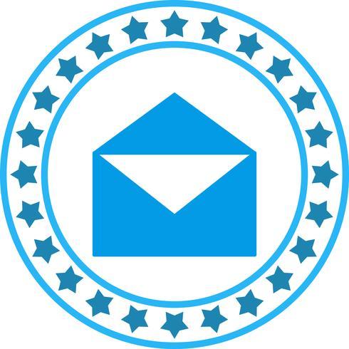 Vector icono de carta