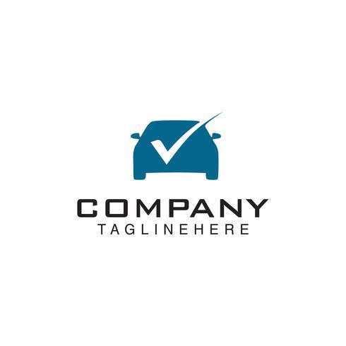 Check Car Logo Template Design vector