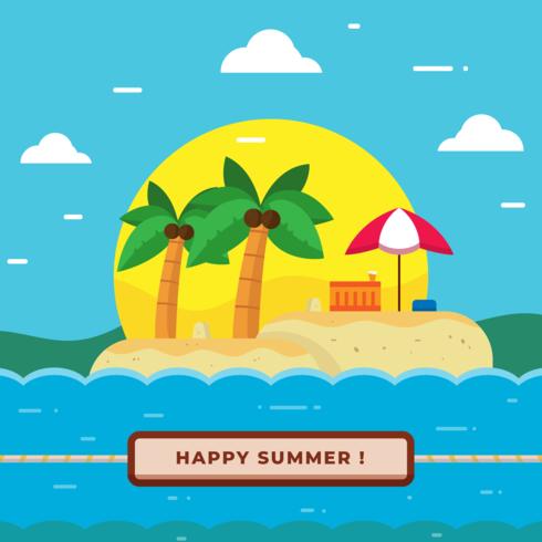 Sommerstrand-Vektor