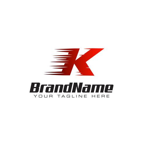 Letter Initial K Speed Logo Design Template vector