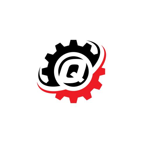 Letter Q Gear Logo Design Template