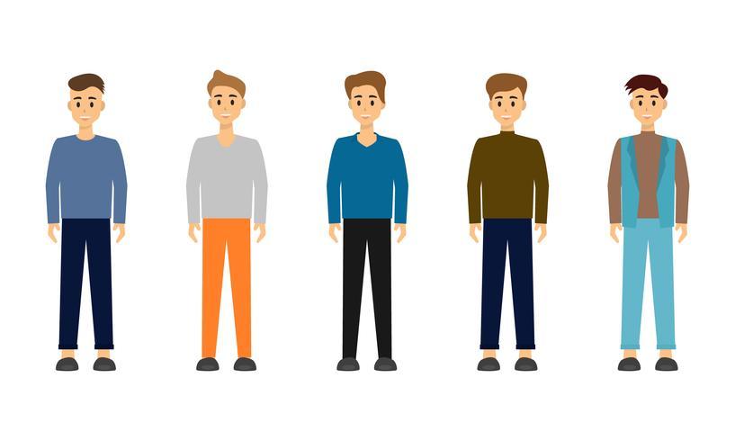 Grupo de design de personagens do empresário. vetor