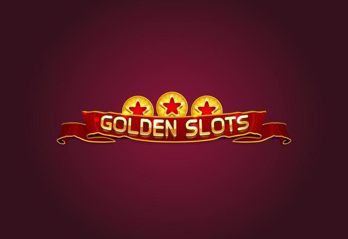 golden slot illustration vector