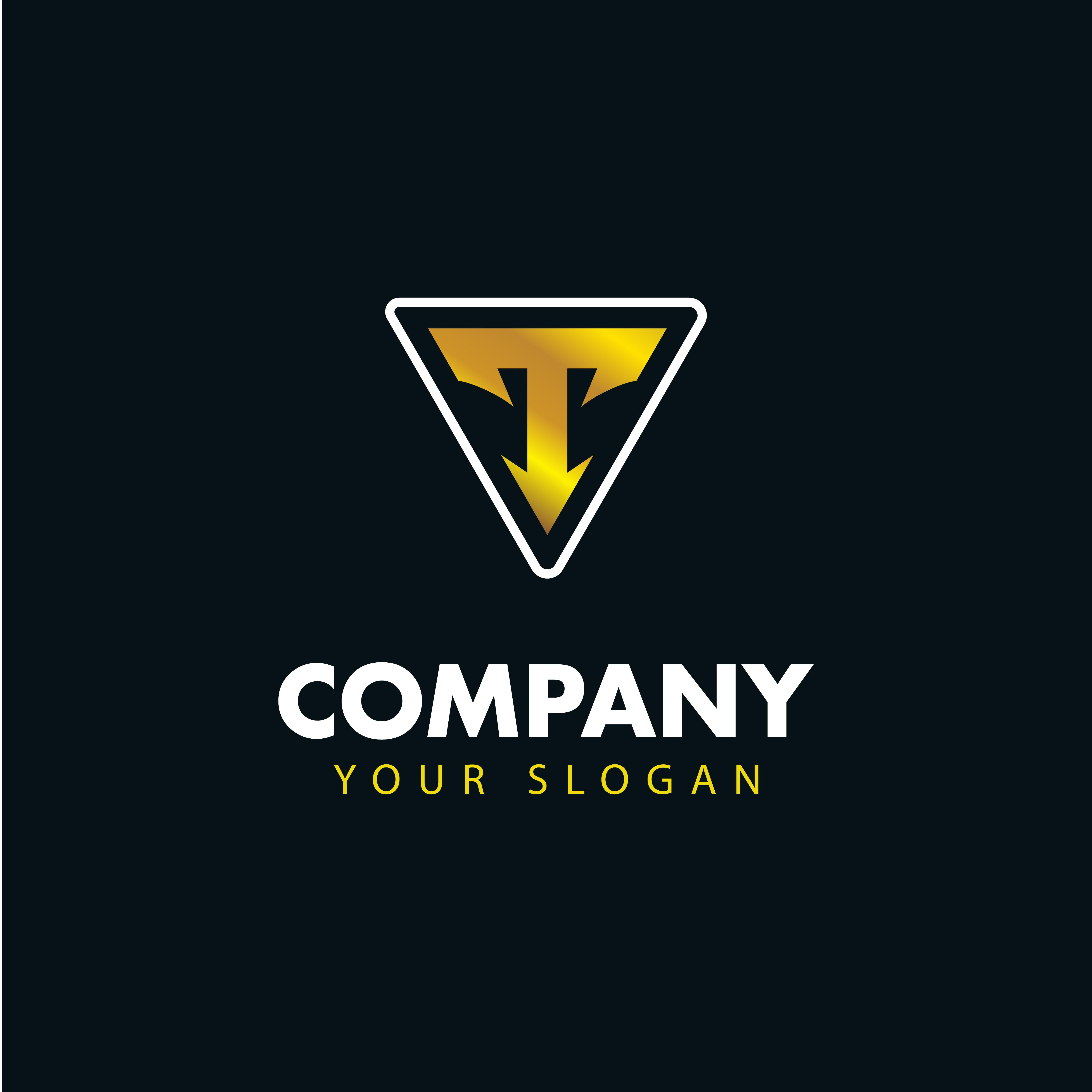 Letter T Emblem Logo . Logotype Vector Design.