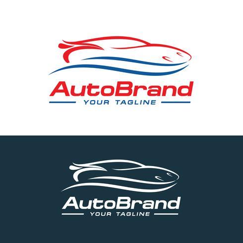 Vettore di logo dell'automobile, progettazione automatica del modello di vettore di logo della società