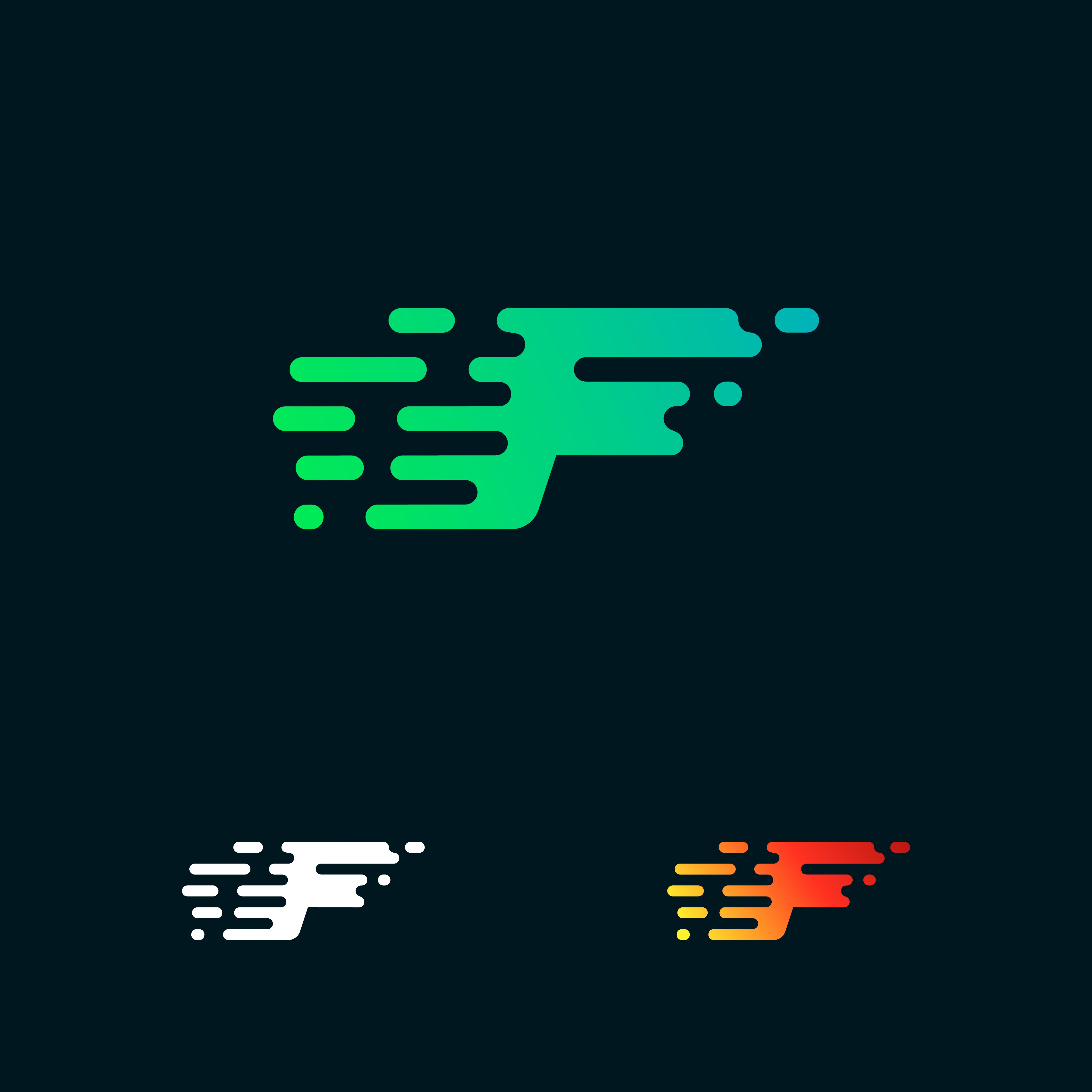letter F modern speed shapes logo design vector - Download ...