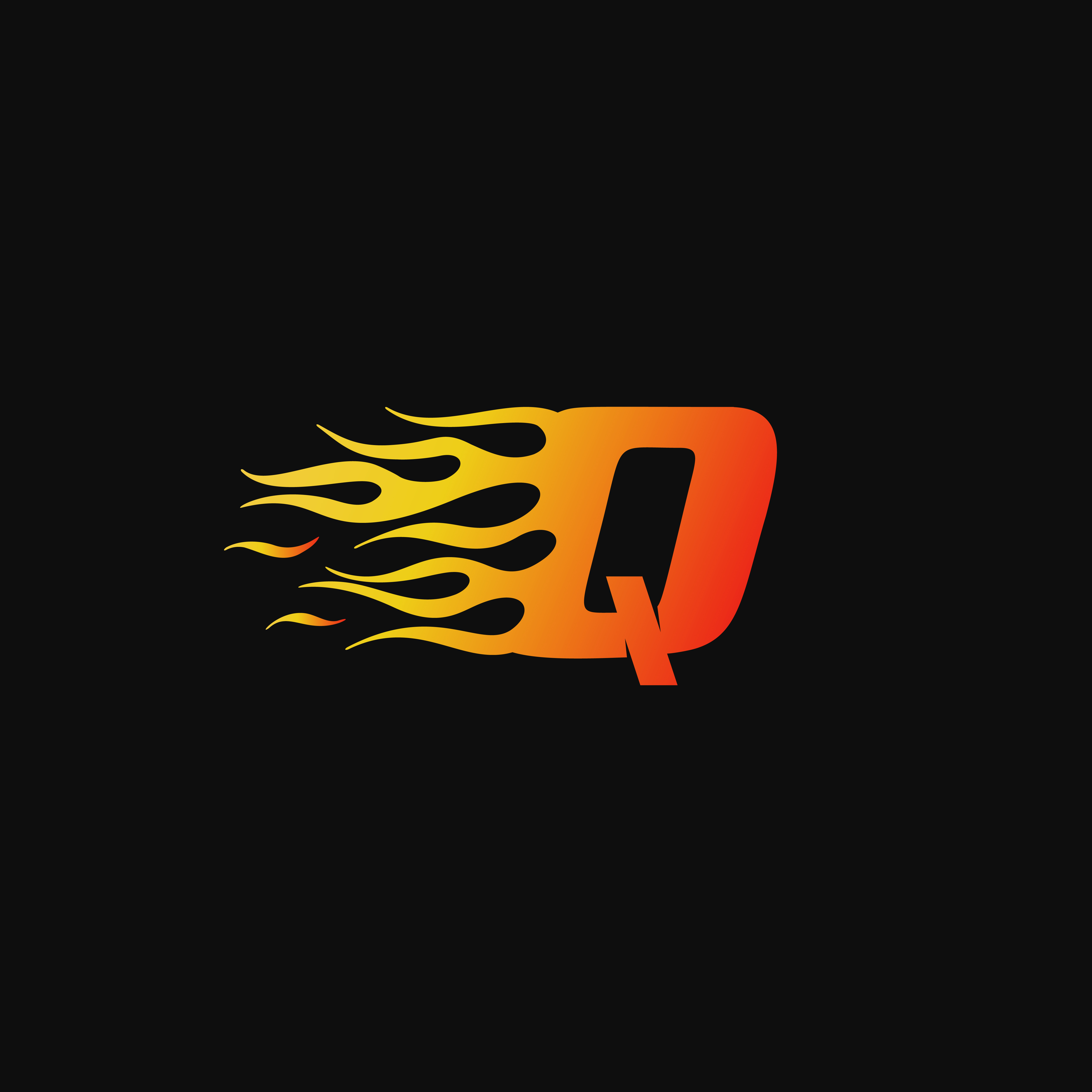 Speed Car Logo Template: Letter Q Burning Flame Logo Design Template 588100 Vector