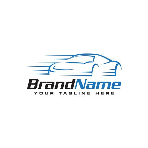logotipo de auto rápido plantilla de logotipo automotriz vector