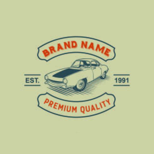 Un modèle de création de logo de voiture classique ou vintage ou rétro. Vinta vecteur
