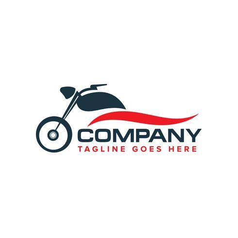 vecteur de conception de logo moto auto