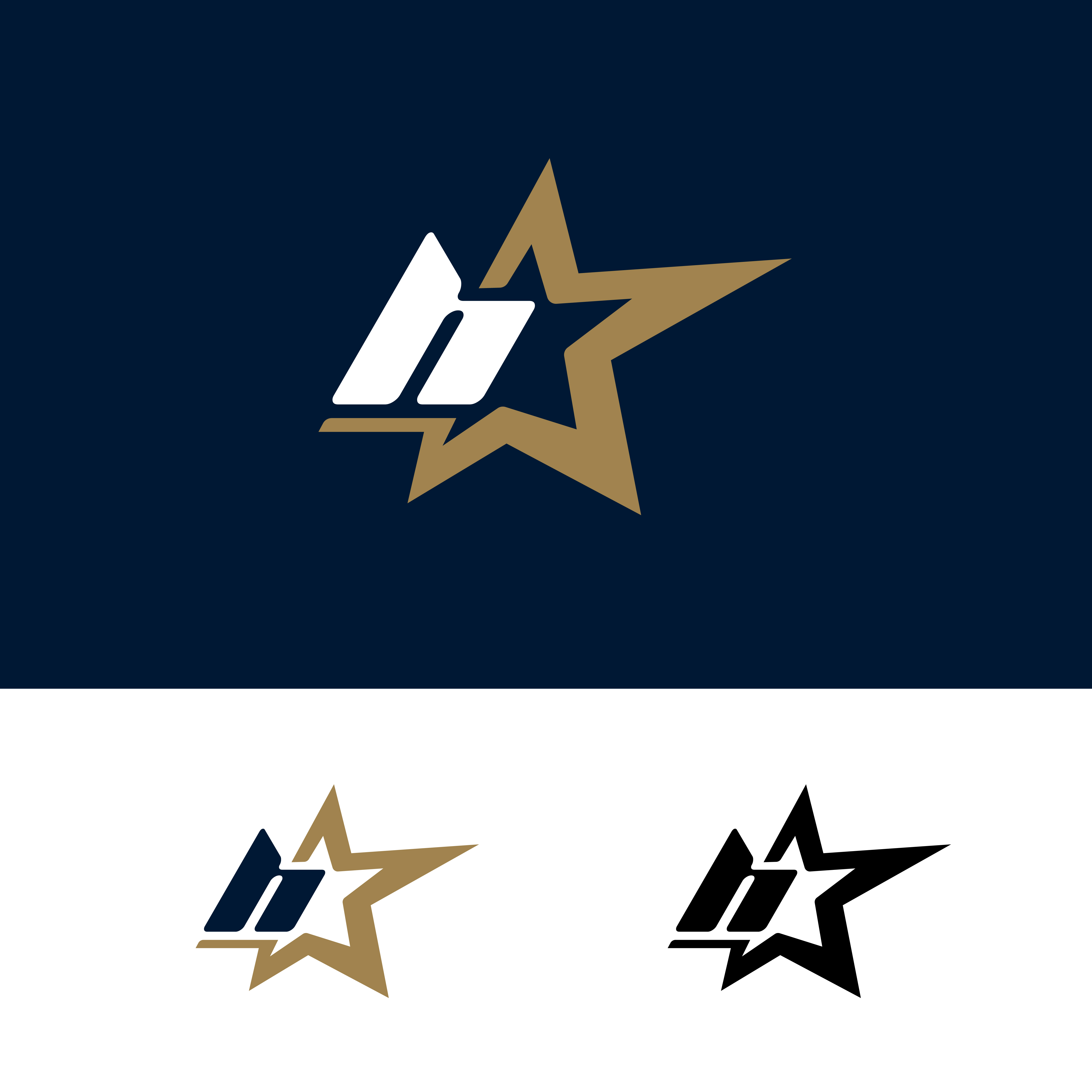 Letter H Logo Template With Star Design Element. Vector