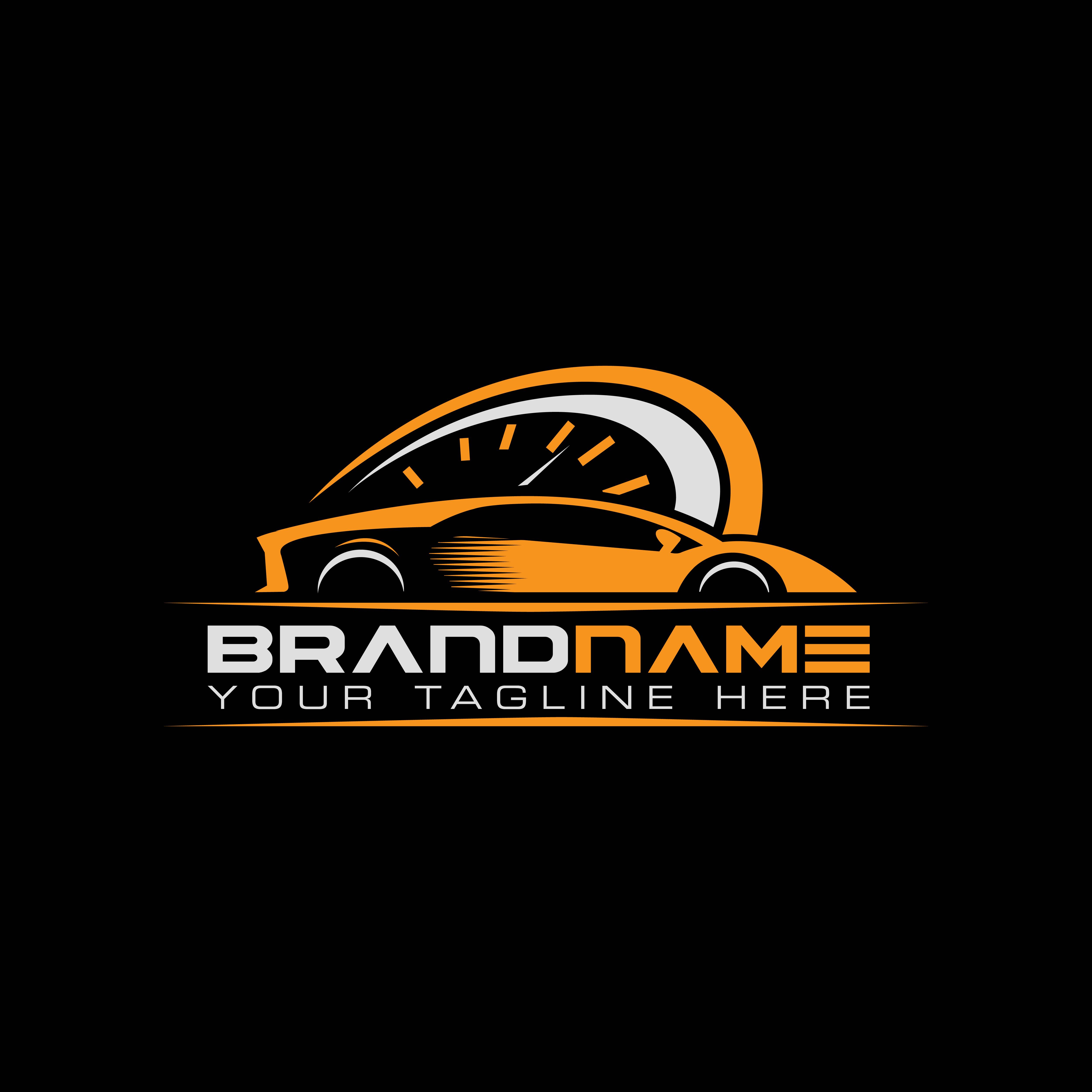 sport car with tachometer logo. Auto performance logo ...