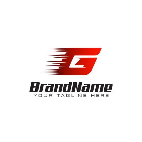 Letter Initial G Speed Logo Design Template vector