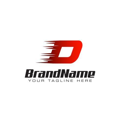 Letter Initial D Speed Logo Design Template