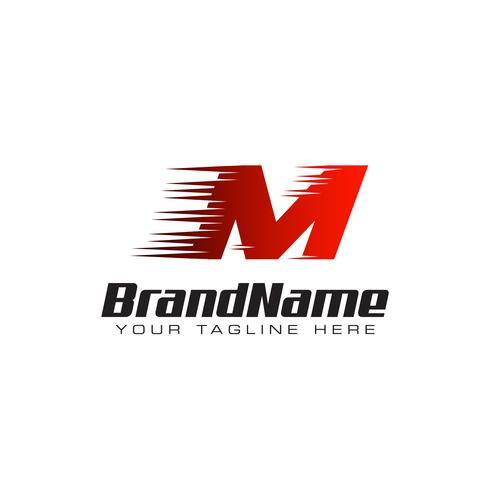 Brief eerste M snelheid Logo ontwerpsjabloon