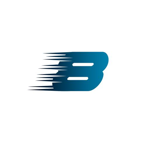Letter nummer 8 snelheid Logo ontwerpsjabloon