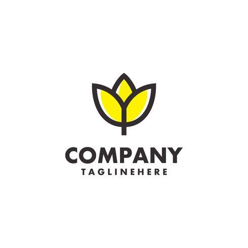 Flower lily Logo vector