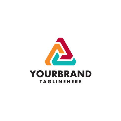 Logo template. Modern vector abstract triangle creative sign or