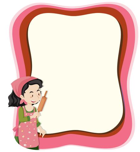 A housewife on note template