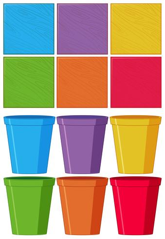 Set of color object