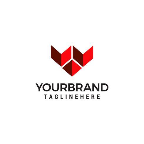 Logotipo moderno letra W ilustração vetorial.
