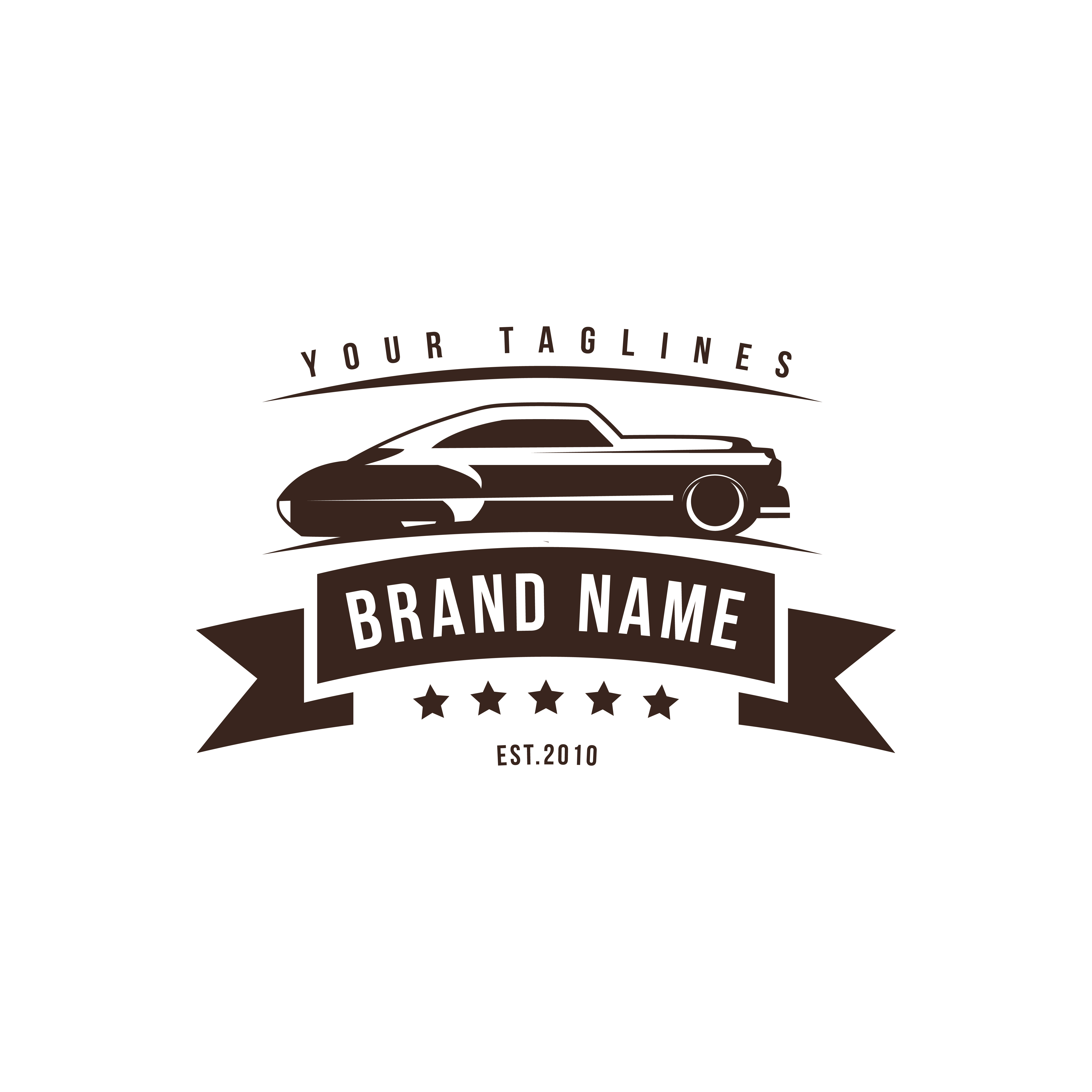 A template of classic or vintage or retro car logo design ...