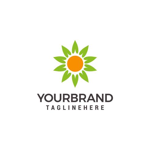 Eco organic green Farm natural fresh products Logo template