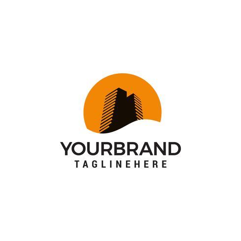Building Sunset Logo Design Template
