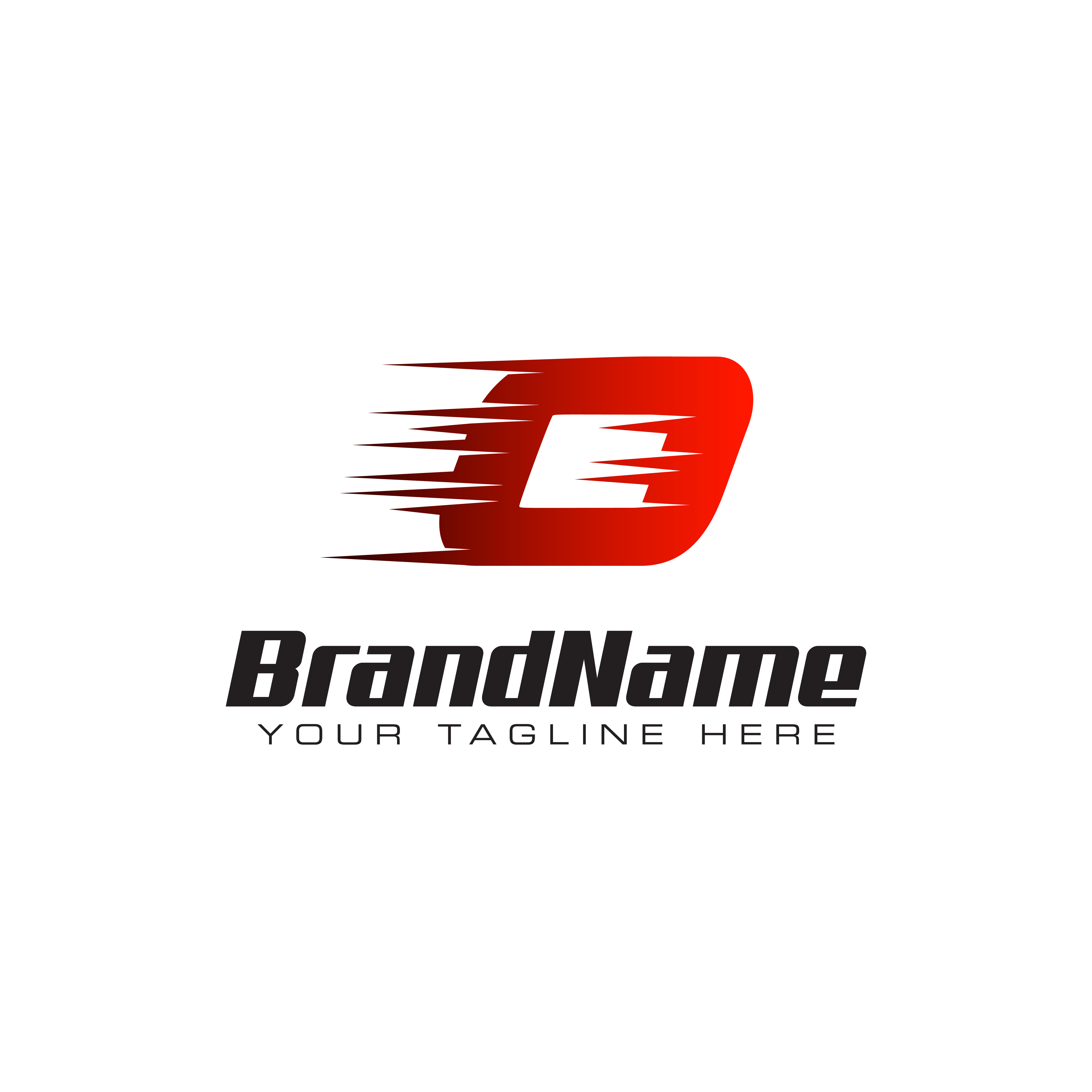 Letter Initial O Speed Logo Design Template