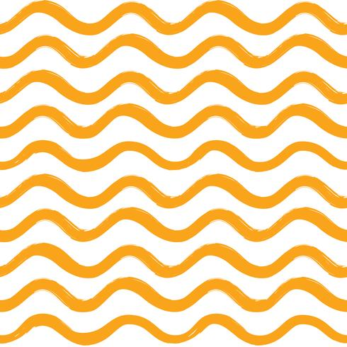 Abstract wave seamless pattern. Wavy line ornament vector