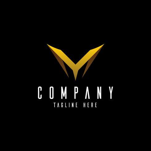 Design de logotipo de letra M linha. Mínimo monocromático criativo linear
