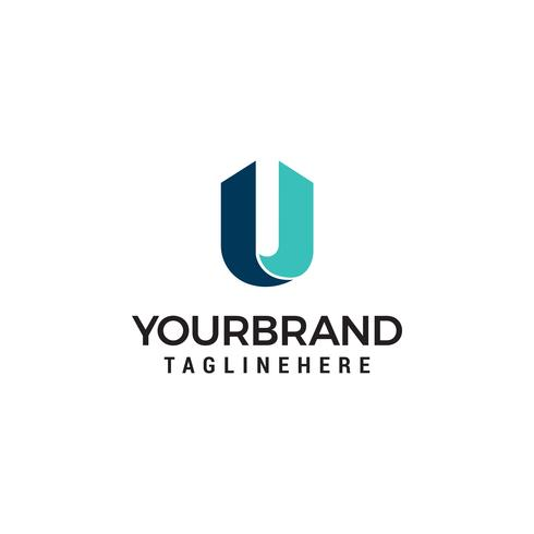 Letter U construction logo template